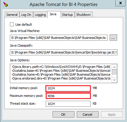 SAP BI Tomcat Best Practice Configuration - Welcome to Our